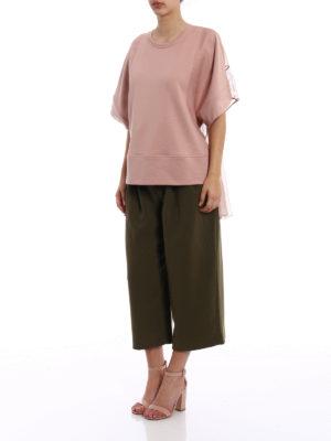 N°21: t-shirts online - Silk back pink jersey T-shirt