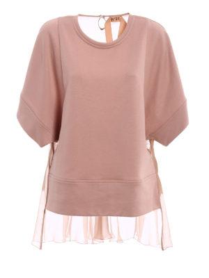 N°21: t-shirts - Silk back pink jersey T-shirt
