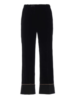 N°21: Pantaloni sartoriali - Pantaloni pigiama in velluto nero
