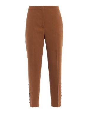 N°21: Pantaloni sartoriali - Pantaloni cammello con bottoni alla caviglia