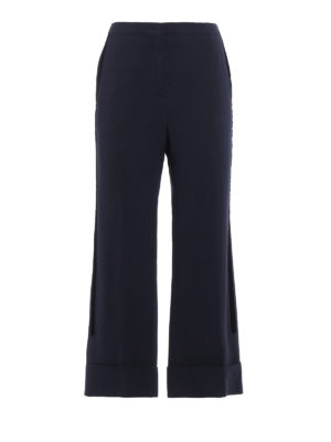 N°21: Tailored & Formal trousers - Crepe cady wide leg crop trousers
