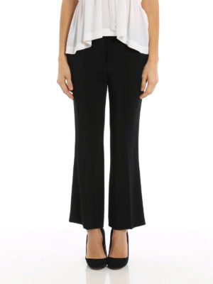 N°21: Tailored & Formal trousers online - Crop cady trousers