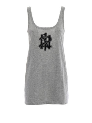 N°21: Tops & Tank tops - Embellished logo embroidery top