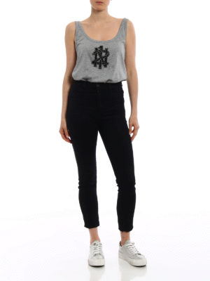 N°21: Tops & Tank tops online - Embellished logo embroidery top