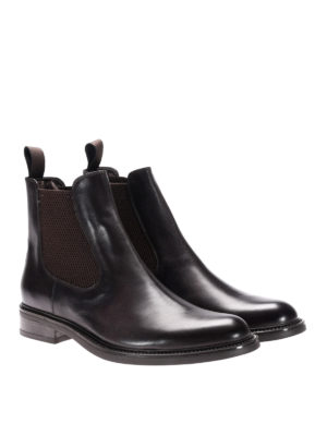 Neil Barrett: ankle boots online - Stretch inserts leather booties
