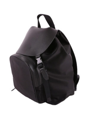 Neil Barrett: backpacks online - Techno fabric and leather backpack