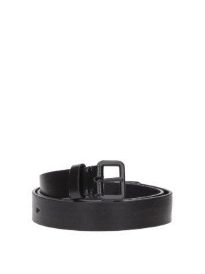 NEIL BARRETT: cinture - Cintura con fibbia tono su tono in pelle