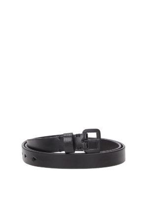 NEIL BARRETT: cinture - Cintura in pelle con fibbia tono su tono