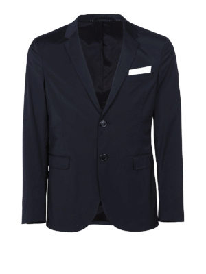 NEIL BARRETT: giacche blazer - Blazer in tessuto tecnico stretch