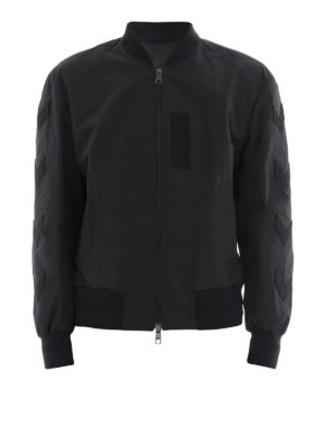 Neil Barrett: bombers - Army patches bomber jacket