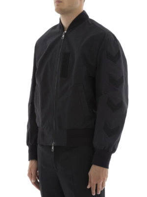 Neil Barrett: bombers online - Army patches bomber jacket