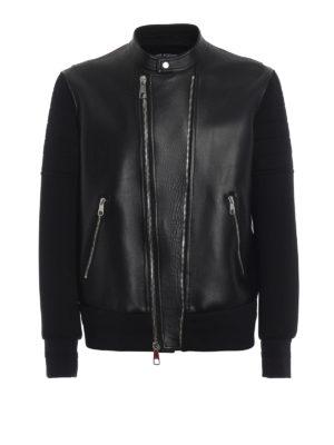NEIL BARRETT: giacche casual - Giacca skinny effetto scuba e pelle