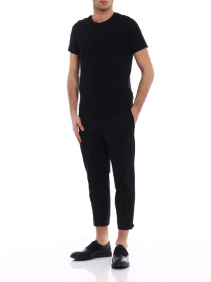 Neil Barrett: casual trousers online - Slim chinos with adjustable bottom