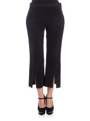 Neil Barrett: casual trousers online - Vented crop flared trousers
