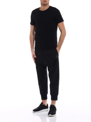Neil Barrett: casual trousers online - Wool blend low crotch trousers