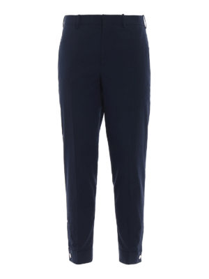 NEIL BARRETT: pantaloni casual - Pantaloni crop vestibilità skinny