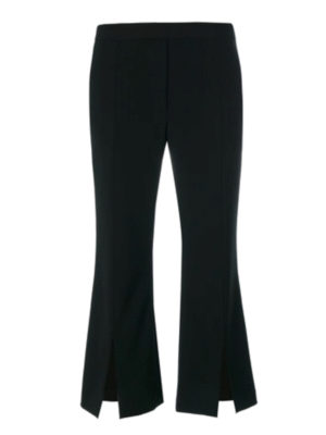 Neil Barrett: casual trousers - Vented crop flared trousers