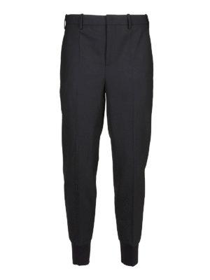 NEIL BARRETT: pantaloni casual - Pantaloni crop sportivi in misto lana