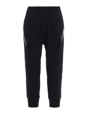 Neil Barrett: casual trousers - Wool blend low crotch trousers
