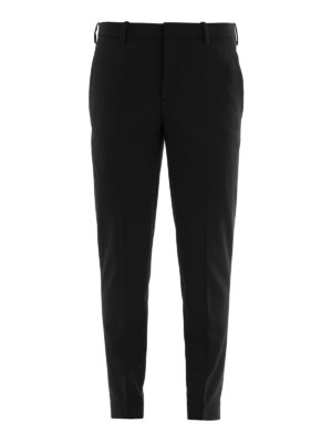 Neil Barrett: casual trousers - Zipped bottom trousers