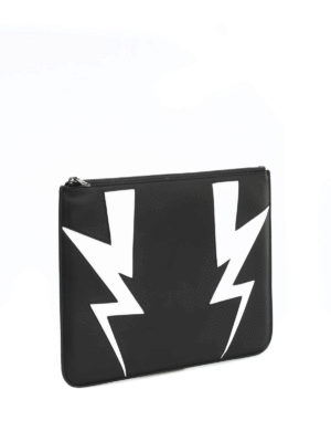 Neil Barrett: clutches online - Abstracted double bolt pouch