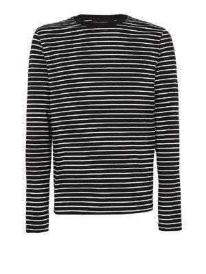 NEIL BARRETT: maglia collo rotondo - Maglia girocollo in cotone a righe