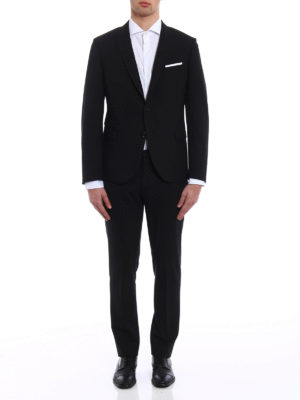 Neil Barrett: formal suits online - Wool blend two-piece slim fit suit