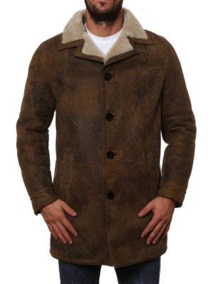 Neil Barrett: Fur & Shearling Coats online - Vintage effect shearling coat