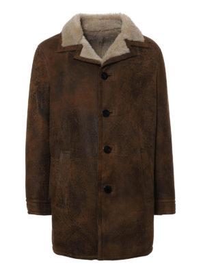 Neil Barrett: Fur & Shearling Coats - Vintage effect shearling coat