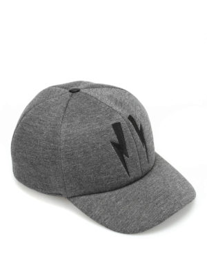 Neil Barrett: hats & caps - Double bolt baseball hat