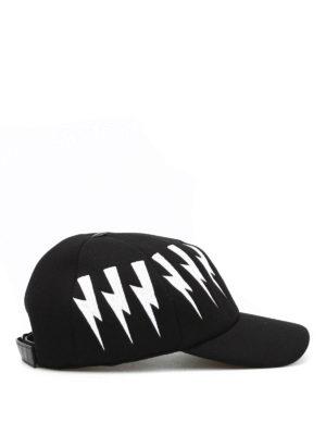 Neil Barrett: hats & caps online - Embroidered bolt baseball hat