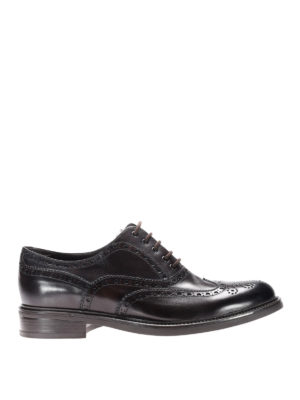 Neil Barrett: lace-ups shoes - Glossy leather brogue lace-ups