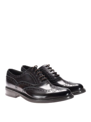 Neil Barrett: lace-ups shoes online - Glossy leather brogue lace-ups