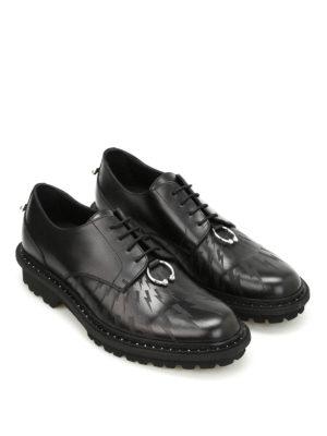 Neil Barrett: lace-ups shoes online - Pierced Punk leather Derby
