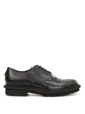 Neil Barrett: lace-ups shoes - Pierced Punk leather Derby