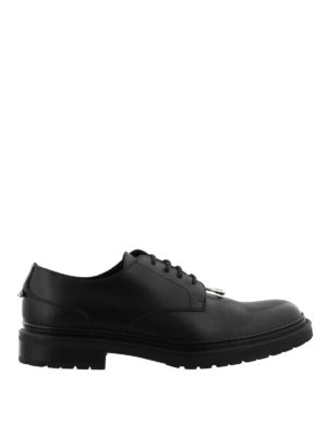 Neil Barrett: lace-ups shoes - Piercing lace-up Derby shoes