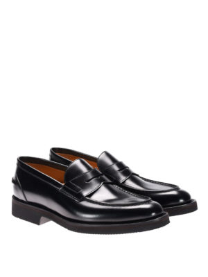Neil Barrett: Loafers & Slippers online - Rubber sole leather loafers