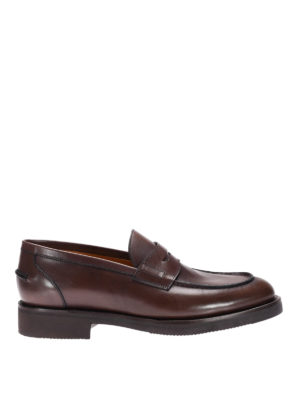 Neil Barrett: Loafers & Slippers - Rubber sole glossy leather loafers