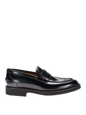 Neil Barrett: Loafers & Slippers - Rubber sole leather loafers
