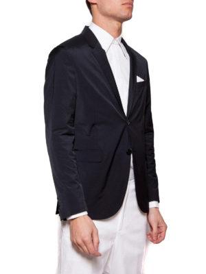 NEIL BARRETT: giacche blazer online - Blazer in tessuto tecnico stretch