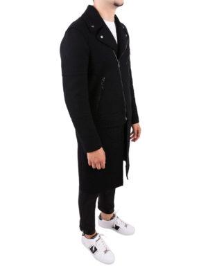 NEIL BARRETT: cappotti al ginocchio online - Cappotto in misto lana con chiusura obliqua