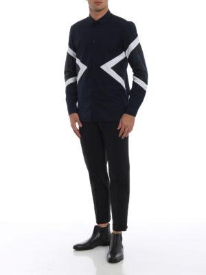 NEIL BARRETT: camicie online - Camicia slim con parti camouflage