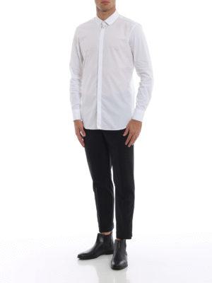NEIL BARRETT: camicie online - Camicia slim in cotone con piercing