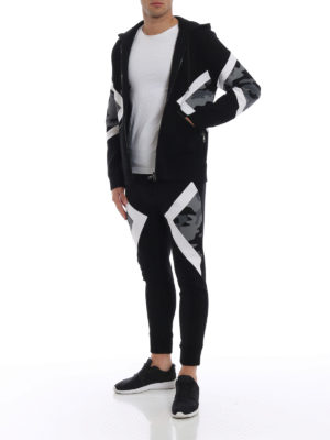 NEIL BARRETT: Felpe e maglie online - Felpa slim con pannelli camouflage