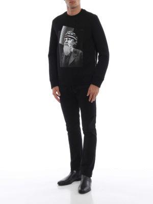 NEIL BARRETT: Felpe e maglie online - Felpa girocollo in neoprene stampa patchwork