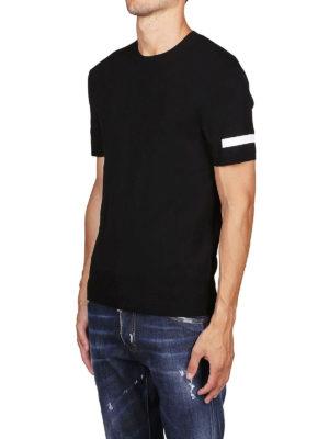 NEIL BARRETT: t-shirt online - T-shirt con banda a contrasto sulle maniche