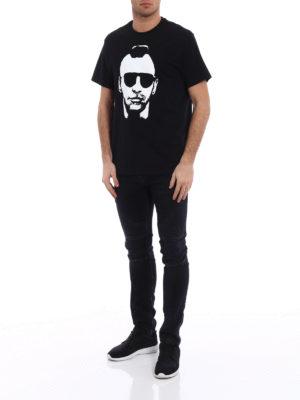 NEIL BARRETT: t-shirt online - T-shirt over con stampa in negativo