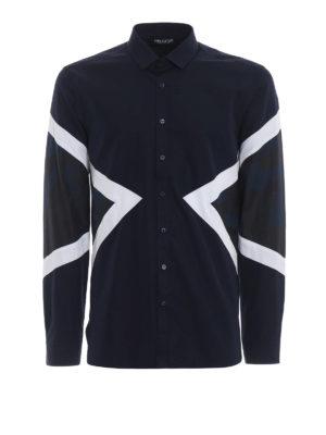 NEIL BARRETT: camicie - Camicia slim con parti camouflage