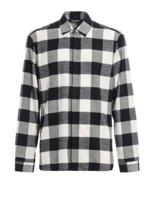 Neil Barrett: shirts - Chequered flannel shirt