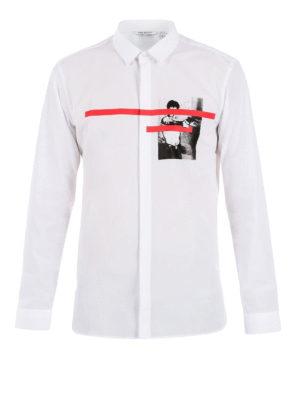 Neil Barrett: shirts - Chest print detailed shirt